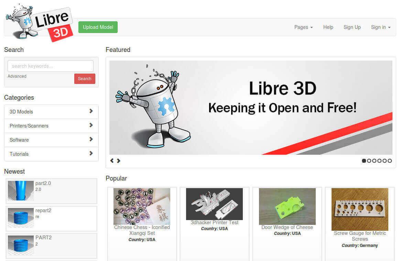 Бесплатные файлы STL, 3D-модели, файлы для 3D-принтера, 3D-модели для 3D-печати: Libre3D