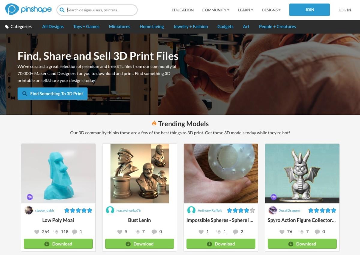 Бесплатные файлы STL, 3D-модели, файлы для 3D-принтера, 3D-модели для 3D-печати: Pinshape