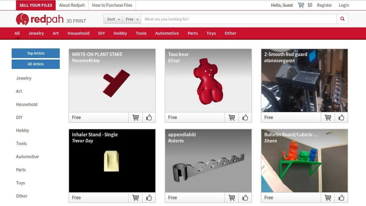 Бесплатные файлы STL, 3D-модели, файлы для 3D-принтера, 3D-модели для 3D-печати: Redpah