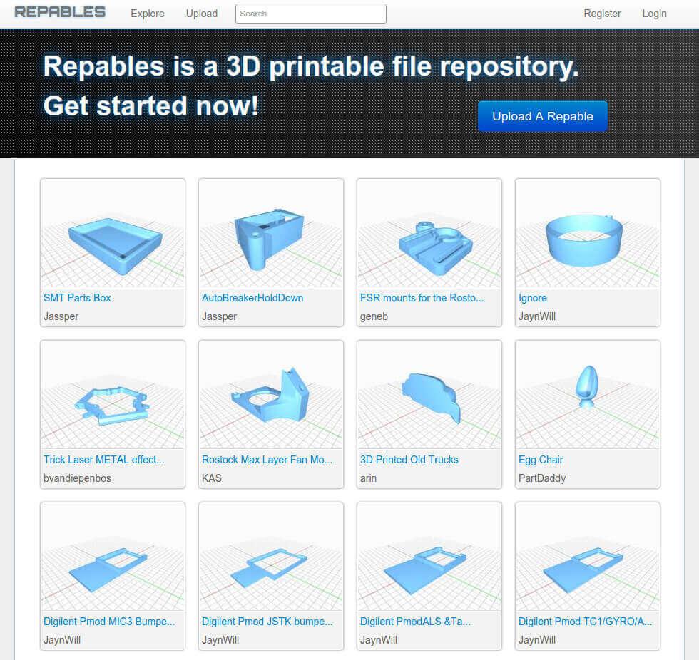 Бесплатные файлы STL, 3D-модели, файлы для 3D-принтера, 3D-модели для 3D-печати: Repables