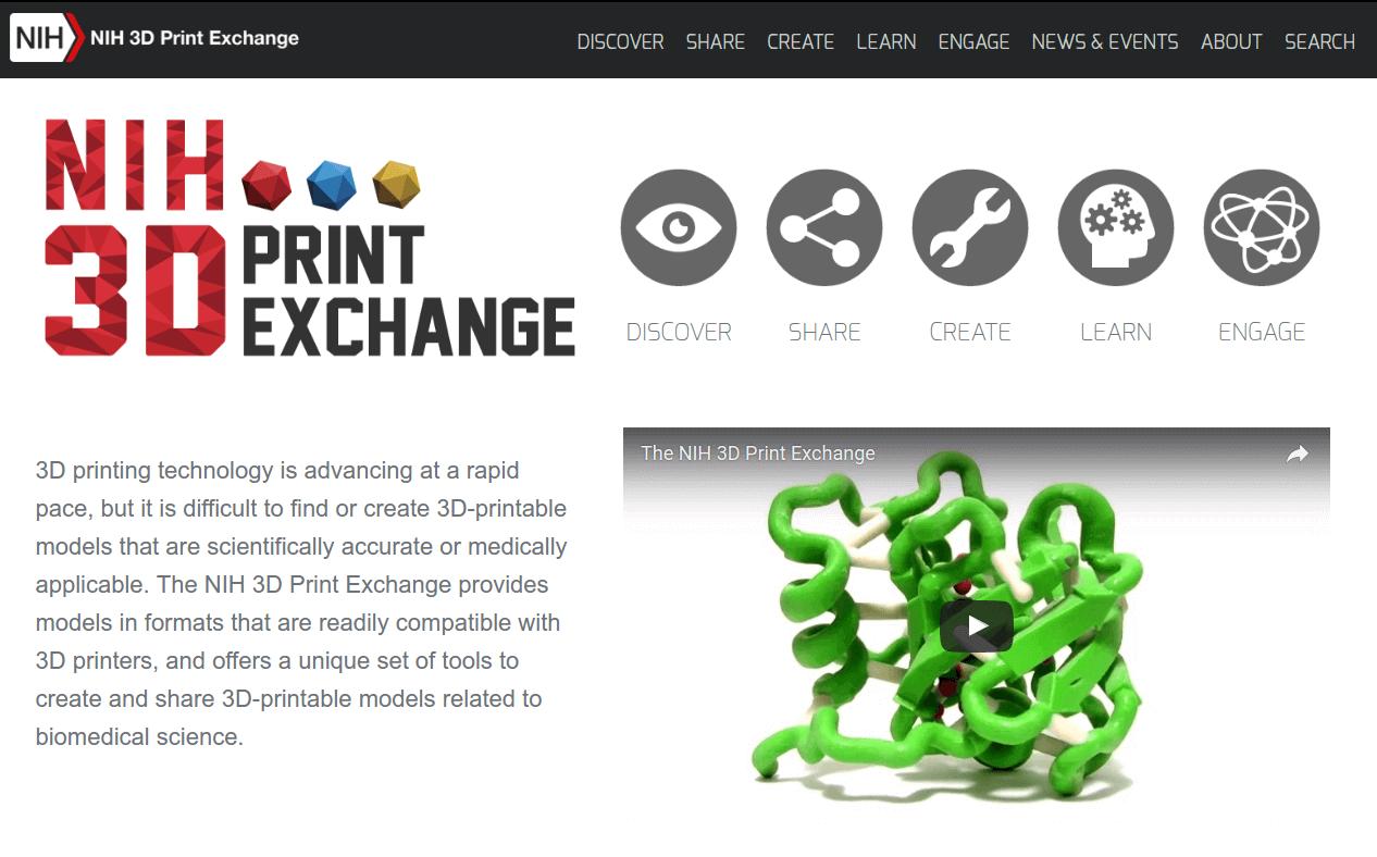 Бесплатные файлы STL, 3D-модели, файлы для 3D-принтера, 3D-модели для 3D-печати: NIH 3D Print Exchange