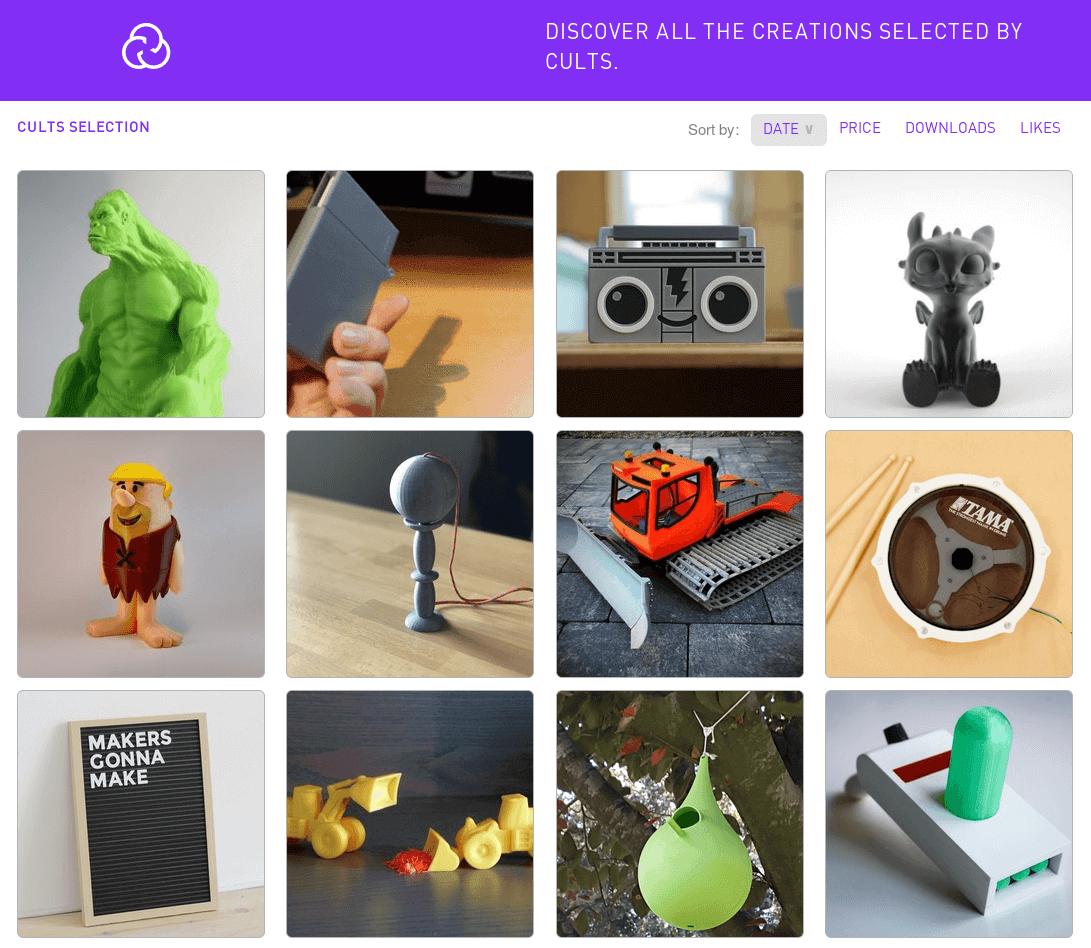 Бесплатные файлы STL, 3D-модели, файлы для 3D-принтера, 3D-модели для 3D-печати: Cults