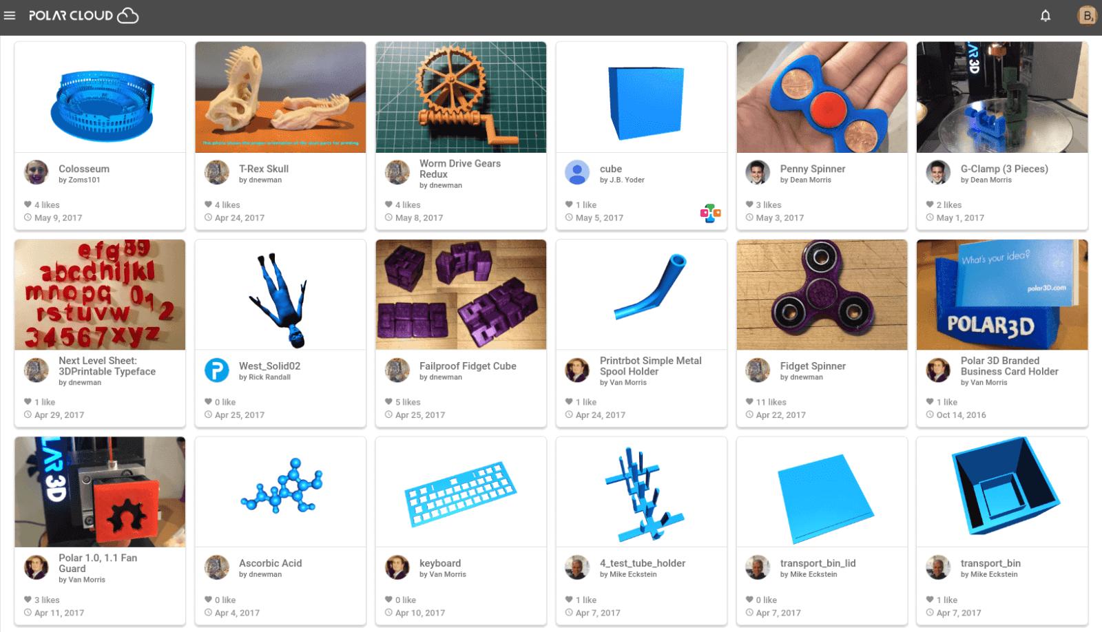 Бесплатные файлы STL, 3D-модели, файлы для 3D-принтера, 3D-модели для 3D-печати: Polar Cloud