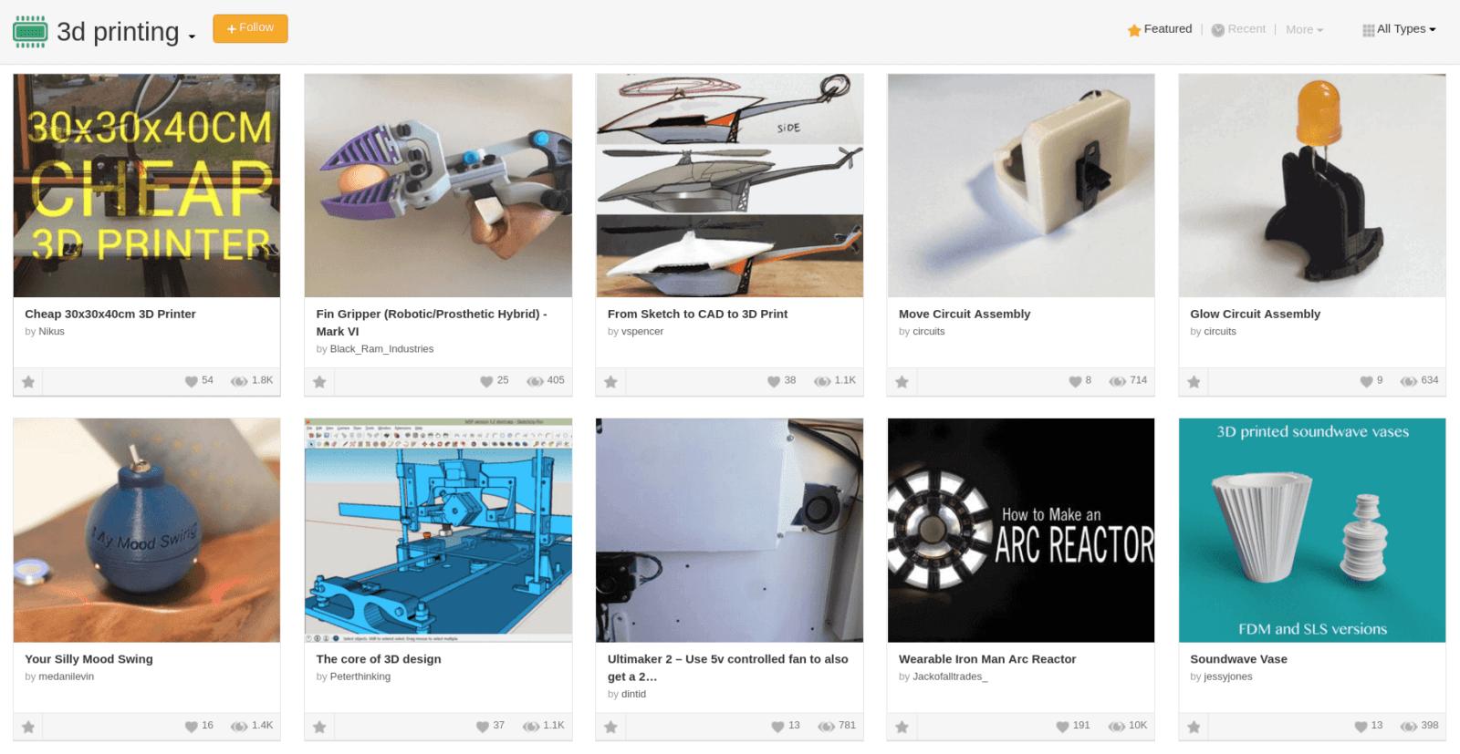 Бесплатные файлы STL, 3D-модели, файлы для 3D-принтера, 3D-модели для 3D-печати: Instructables