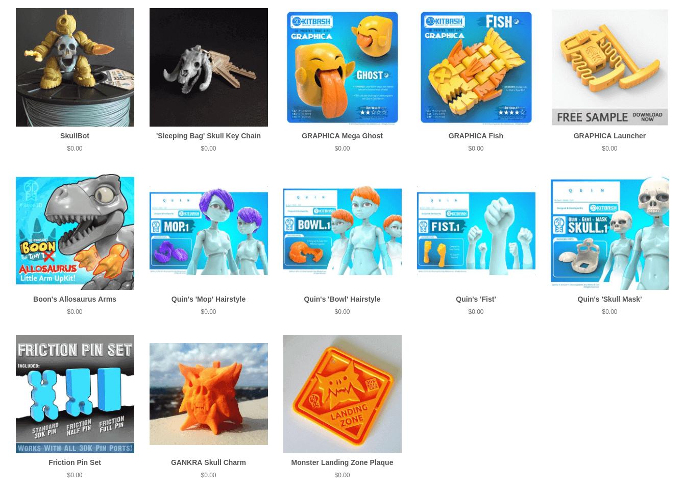 Бесплатные файлы STL, 3D-модели, файлы для 3D-принтера, 3D-модели для 3D-печати: 3DKitbash