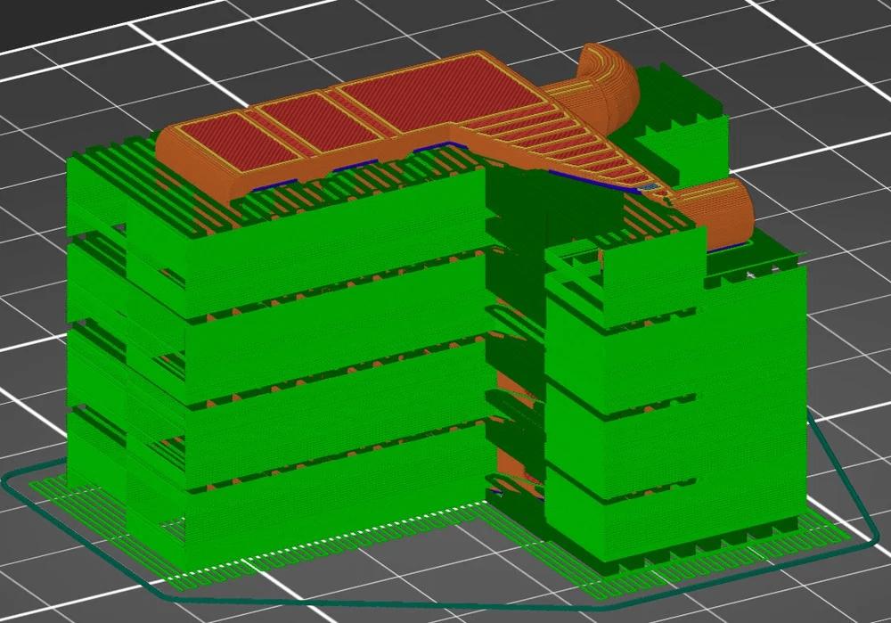 Расположение 3Д модели на боку