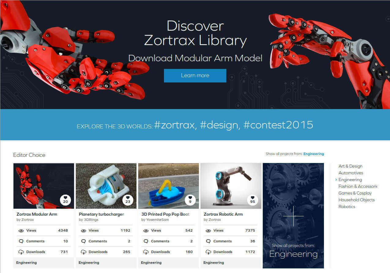 Бесплатные файлы STL, 3D-модели, файлы для 3D-принтера, 3D-модели для 3D-печати: библиотека Zortrax